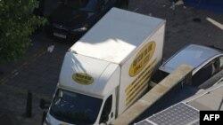 Camioneta implicată în incident
