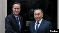 David Cameron və Nursultan Nazarbaev