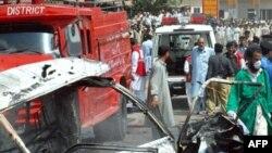 The site of the August 12 bridge blast in Peshawar