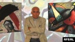 Hudožnik Tokar Tugurow öz eserleri bilen