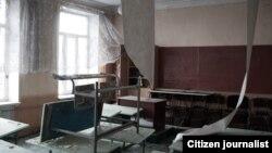 Școală părăsită în Donbas