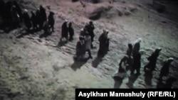Кадр из фильма о Великом голоде «Зұлмат» («Бедствие»). Алматы, 30 января 2019 года.