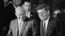 Nikita Hrușciov și președintele John F. Kennedy la convorbirile Est-Vest de la Viena în 1961