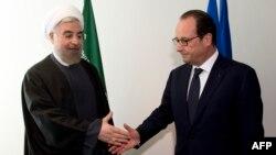 دیدار اولاند و روحانی در ۶۹مین نشست همگانی سازمان ملل متحد، سپتامبر ۲۰۱۴