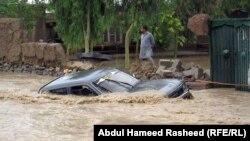 Разрушительное наводнение в афганской провинции Нангархар в июле 2012 года, повлекшее человеческие жертвы.