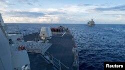 Distrugătorul american USS Dewey în Marea Chinei de Sud în mai 2017