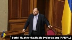 Руслан Стефанчук у залі Верховної Ради