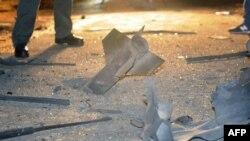 Обломки одной из ракет, выпущенных по Израилю