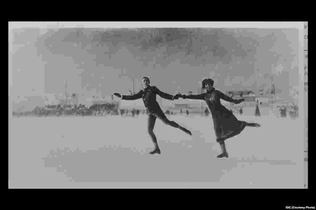 Figure skaters Walter Jakobsson and Ludovika Jakobsson of Finland