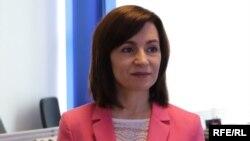 Maia Sandu în biroul Europei Libere de la Chișinău. 27 mai 2020