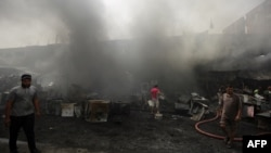 تصویری از محل یکی از انفجارهای پیشین در بغداد