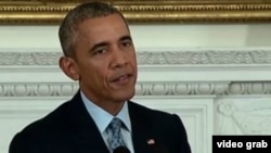 Президент США Барак Обама выступает на пресс-конференции в Белом доме. Вашингтон, 2 октября 2015 года.