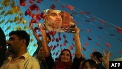 طرفداران حسن روحانی در انتخابات ریاست جمهوری ایران