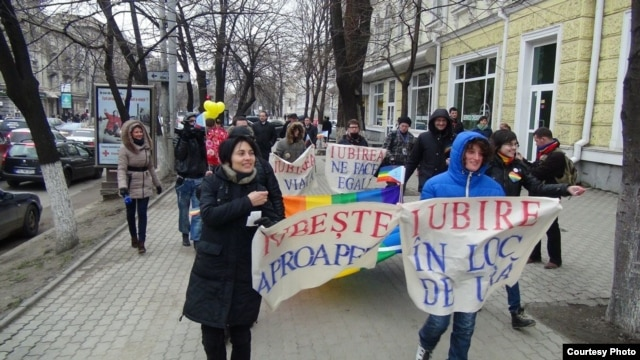 A rally in support of LGBT rights in Chisinau earlier this year happened without incident.