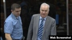 Ratko Mladić na suđenju Radovanu Karadžiću