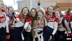 Российские спортсмены-олимпийцы