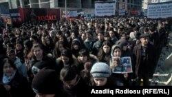 В акции в Баку принимало участие свыше ста тысяч людей
