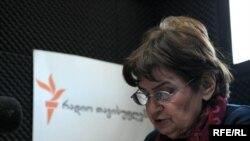ლანა ღოღობერიძე რადიო თავისუფლების სტუდიაში