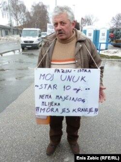 Protest mljekara, 20. veljače 2012.