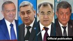 Ўзбекистон президентлиига тўрт расмий партия кўрсатган тўрт номзод.
