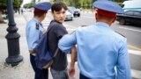 Казахстан. Задержания людей во время митинга. Алматы, 9 июня 2019 года.