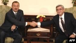 Հայաստանի և Ադրբեջանի նախագահների հանդիպումը Քիշնևում, 8-ը հոկտեմբերի, 2009թ.