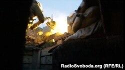 Одна з передових позицій українських військових в Авдіївській промзоні