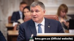 Interior Minister Arsen Avakov attends a cabinet meeting in Kyiv on January 29.