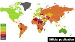 Краіны сьвету паводле рэйтынгу эканамічнай свабоды ў2017 годзе