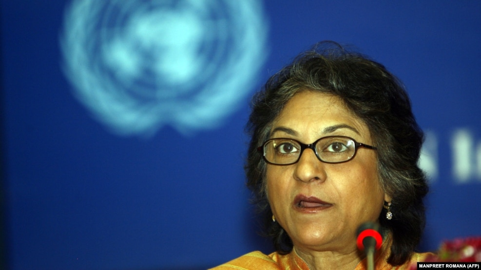 Asma Jahangir, the UN's special rapporteur on the human rights situation in Iran (file photo).