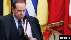 Италијанскиот премиер во заминување, Силвио Берлускони.