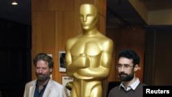 Режиссер Сэм Фрэнч (слева) и продюсер Ариэль Наср в Голливуде. 19 февраля 2013 года.