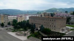 Nagorno-Karabakh - Government buildings in Stepanakert.