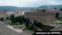 Nagorno-Karabakh -- The main government buildings in Stepanakert.