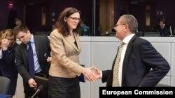 Бельгия. Встреча трехсторонней комиссии ЕС – РФ – Украина. 21 декабря 2015 года