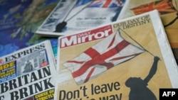 Британи -- Референдуман жамIаш хазахетарца довзуьйту ингалсан газеташа