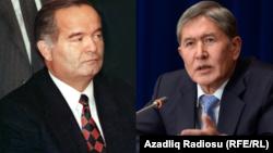 O'zbekiston va Qirg'iziston prezidentlari Islom Karimov va Almazbek Atambaev