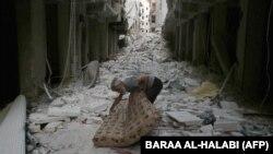 Սիրիա - Ռմբակոծության հետևանքները Հալեպի արվարձաններից մեկում, արխիվ