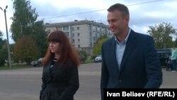 Кира Ярмыш с Алексеем Навальным