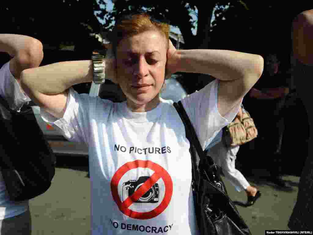 ჟურნალისტთა სოლიდარობის აქცია. თბილისი, 14 ივლისი, 2011