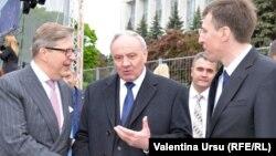 De ziua Europei, împreună cu Pirka Tappiola, șeful delegației UE și cu președintele Nicolae Timofti la Chișinău