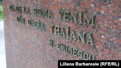 Inscripţie la Muzeul Naţional de Istorie a Moldovei