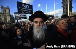 Демонстрация протеста против проявлений антисемитизма. Лондон, март 2018 года