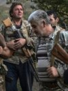 Ethnic Armenian men with Soviet-made weapons in a village in Nagorno-Karabakh -- a breakaway region which is internationally recognized as part of Azerbaijan -- on October 23.<br /> &nbsp;