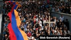 Армян элинин геноцидге кабылган күнүн эскерүү. Ереван, 24-апрель, 2018-жыл