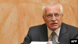 President Vaclav Klaus expects a Constitutional Court ruling on the process.