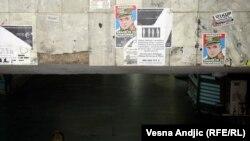 Plakati sa Mladićem u centru Beograda