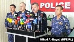 قيادة شرطة كركوك في مؤتمر صحفي