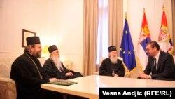 """Razgovor Vučića i Irineja o """"aktuelnoj politčkoj situaciji"""""""