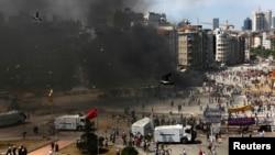 Столкновения на площади Таксим 11 июня